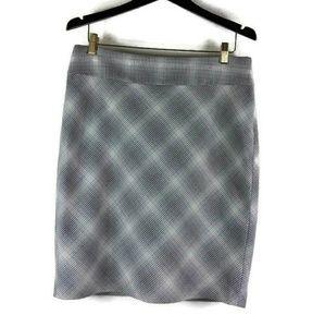Limited Career Skirt Diamond Pattern Lined Skirt